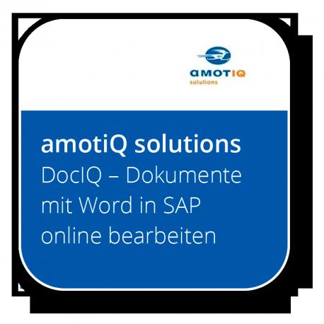 DocIQ – Dokumente mit Word in SAP online bearbeiten