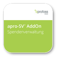 apro-SV® SPENDENVERWALTUNG