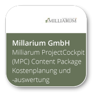 Milliarum ProjectCockpit (MPC) Content Package Kostenplanung und -auswertung