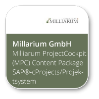 Milliarum ProjectCockpit (MPC) Content Package SAP®-cProjects/Projektsystem Terminvererbung