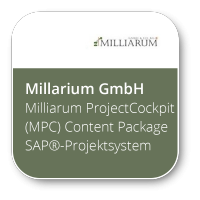 Milliarum ProjectCockpit (MPC) Content Package SAP®-Projektsystem