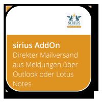 Direkter Mailversand aus Meldungen über Outlook oder Lotus Notes