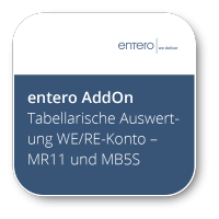Tabellarische Auswertung WE/RE-Konto - MR11 und MB5S