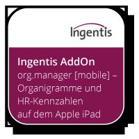 Ingentis org.manager [mobile] – Organigramme und HR-Kennzahlen auf dem Apple iPad