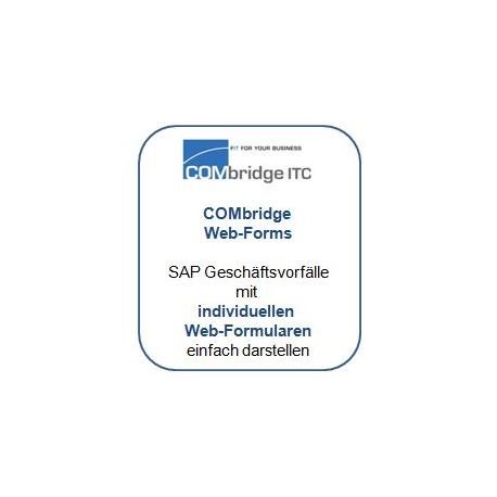 Mit COMbridge Web-Forms sind Sie in der Lage, ihre SAP Standard Software so zu individualisieren, dass Sie wirklich ihre eigenen Prozesse abbilden können, ihre eigenen Screens verwenden und sich die Software nach ihren Geschäftsvorfällen orientiert – nicht umgekehrt. Und das völlig ohne Programmierung.