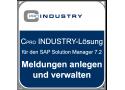 """Cpro INDUSTRY-Lösung """"Meldungen anlegen und verwalten"""" für den SAP Solution Manager 7.2"""