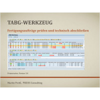 TABG-Werkzeug für ERP und S/4 HANA