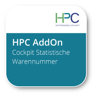 Das flexible HPC-Add-on: Cockpit Statistische Warennummer