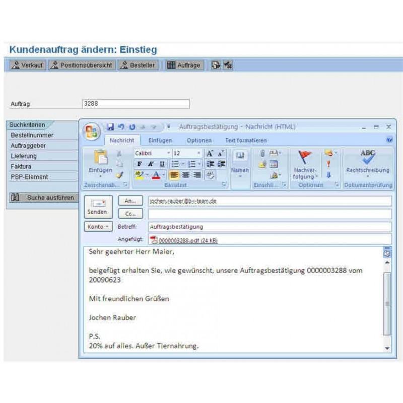 Bitmail Automatisierte Ausgabe Von Sap Belegen Per E Mail